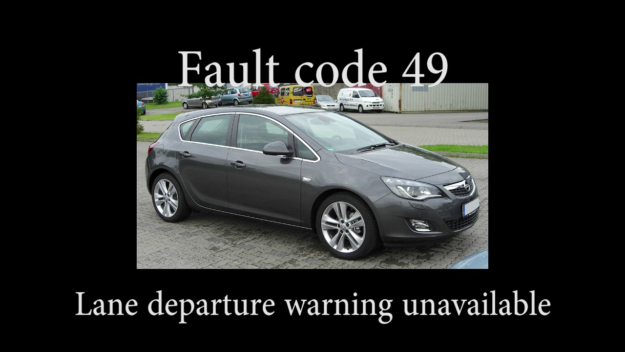 Opel Astra J fault code table