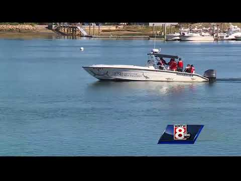 UNE christens new research boat 'Sharkology'