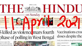 11 April 2021 The Hindu Editorials and Prelims Specific News