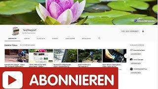 Teichreport-Video Kanal abonnieren und großen GRATIS Teich-Ratgeber abholen - Video-Info beachten!