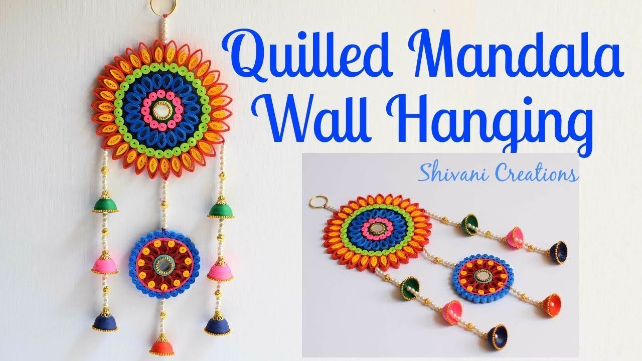 Quilling Mandala Wall Hanging For Diwali Diwali Decoration Ideas Quilling Dream Catcher Youtube