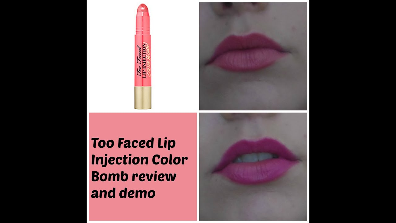 Too Faced Lip Injection Color Bomb review & demo