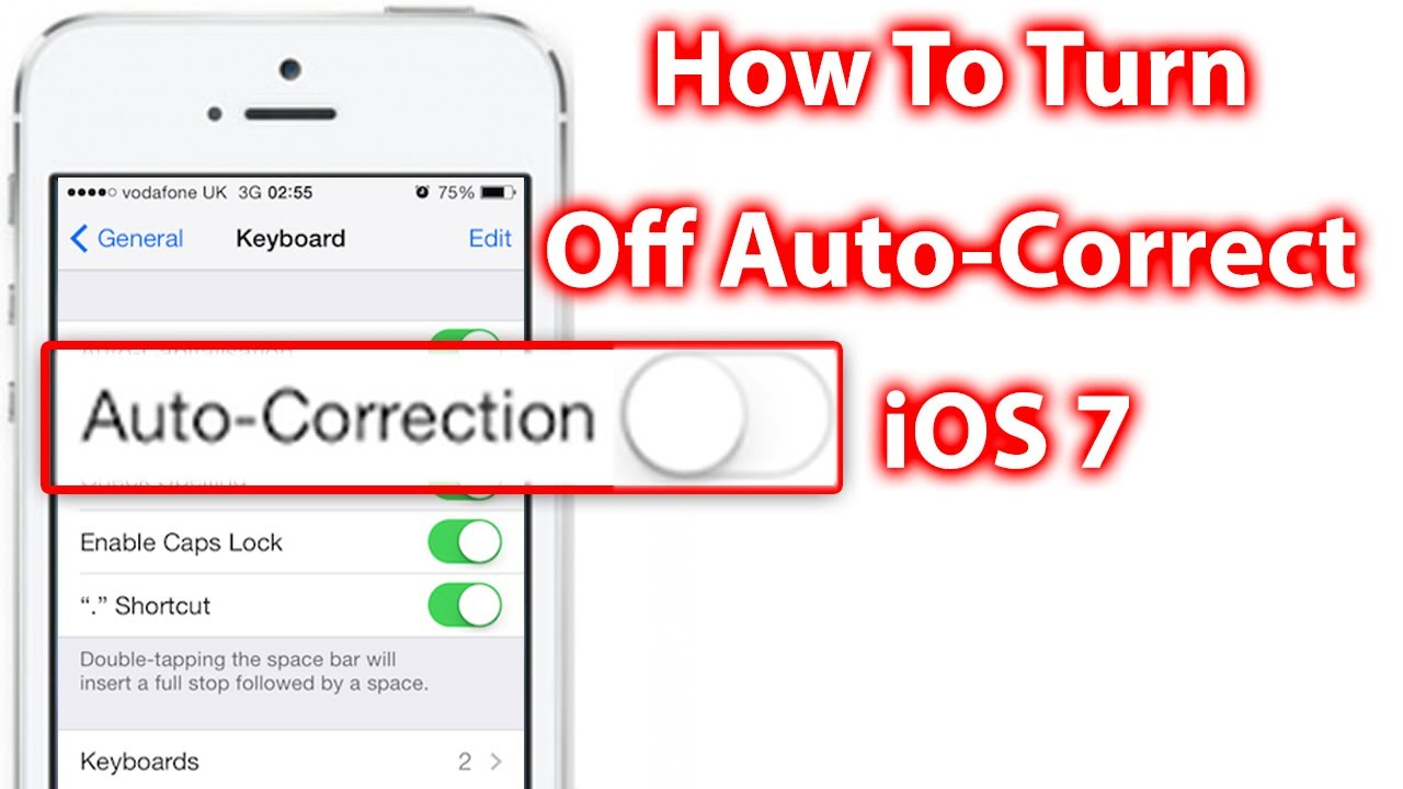 how to stop autocorrect on iphone how to turn auto correct ios 7 iphone and ipod 4572