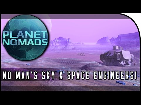 """""""NO MAN'S SKY MEETS SPACE ENGINEERS GAME?!?"""" - Planet Nomads Gameplay, Trailer, & Info!"""
