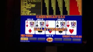 4 Aces With A 2 Triple Double Bonus Poker $2,000