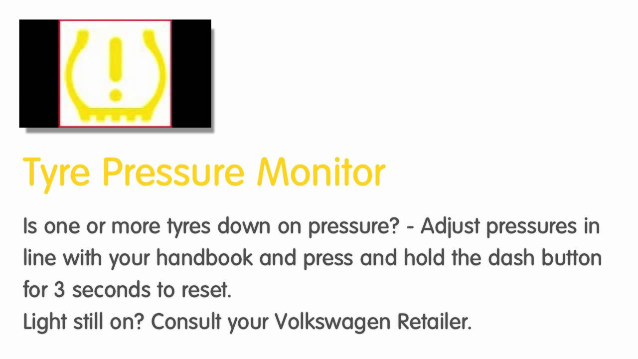 VW dash warning lights  Yellow  How to identifycheck the