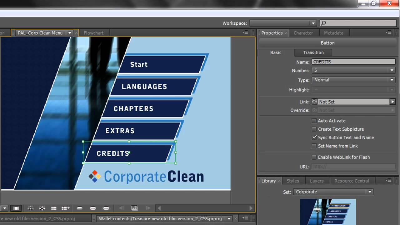 adobe encore menu templates download free adobe encore basics 2 creating menus youtube