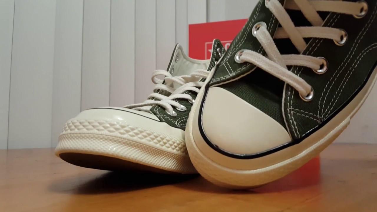 2018 Converse Chuck Taylor 70 high top Dark Green Review   On Feet ... b5aae964a
