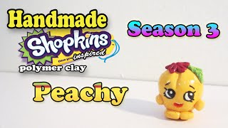 Season 3 Shopkins: How To Make Peachy Polymer Clay Tutorial!