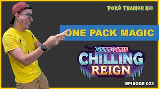 Pokémon Sword & Shield Chilling Reign One Pack Magic or Not, Episode 23, Special Edition #Shorts