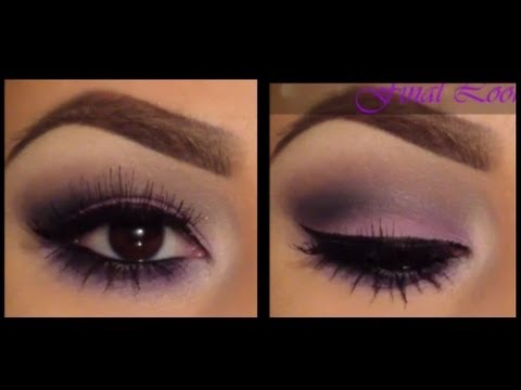 Easy Purple Smokey Eye Tutorial - YouTube