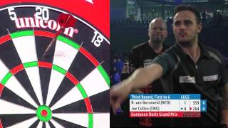 SENSATIONAL GAME! Raymond van Barneveld v Joe Cullen - European Darts Grand Prix third round