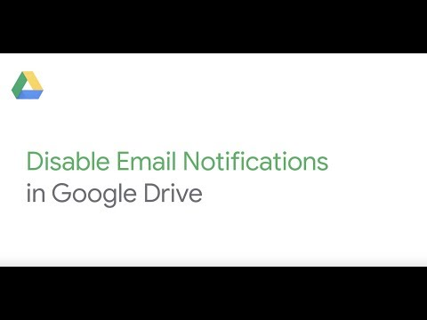 Disable drive notifications in Google Drive