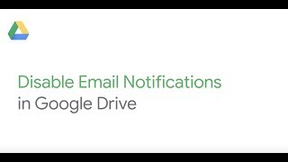 How To: Disable Drive Notifications