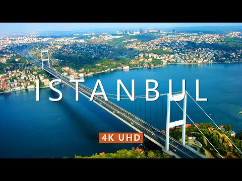 Flying over ISTANBUL (4K UHD) Drone Film + Best Ambient Piano Music For Stress Relief, Meditation