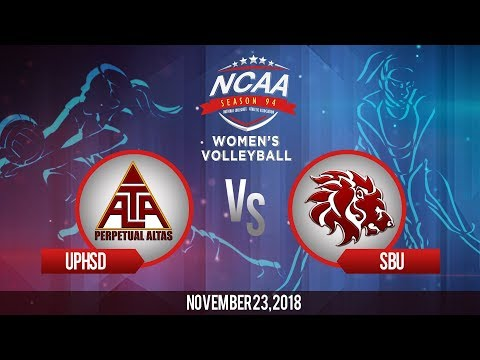 NCAA 94 Women's Volleyball: UPHSD vs. SBU | November 23, 2018