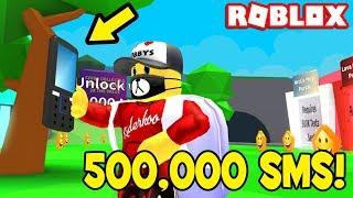 POSLAL JSEM 500 000 SMSEK! (Roblox: Simulateur de textos)
