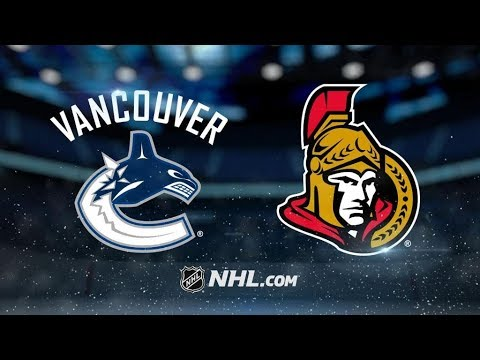 Vancouver Canucks Vs. Ottawa Senators | NHL Game Recap | October 17, 2017 | HD