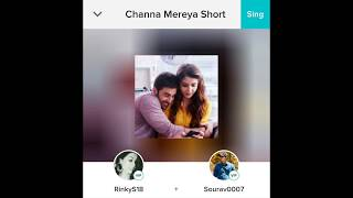 Channa Mereye Karaoke Cover with Smule