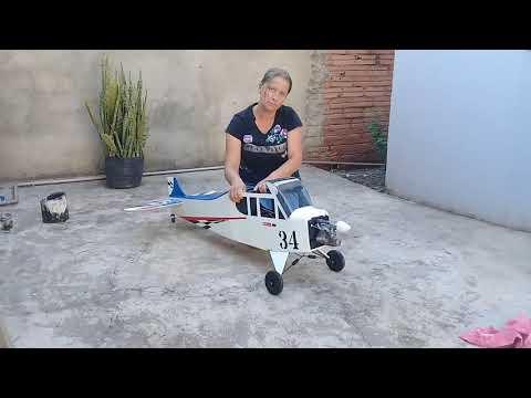 Teste De Vibração. Motor Glow Em Aero De Depron E Isopor