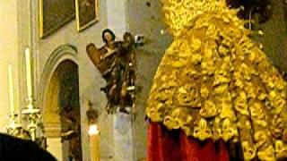 Traslado de la Virgen del Amparo en la Iglesia del Carmen Cadiz 25.10.10