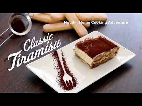 Cách làm bánh tiramisu cổ điển cực ngon, ăn là ghiền