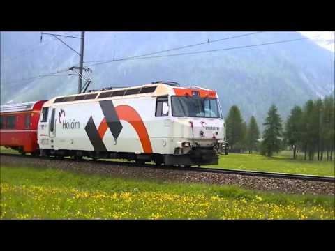 Rhätische Bahn / Wandeling van Spinas naar Bever en Engadin op 15-06-2013