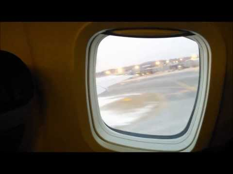 Plane take off video view from inside (Albany NY airport)