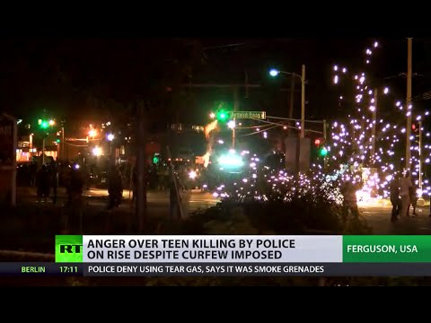 One injured, 7 arrested as Ferguson cops disperse protesters defying curfew