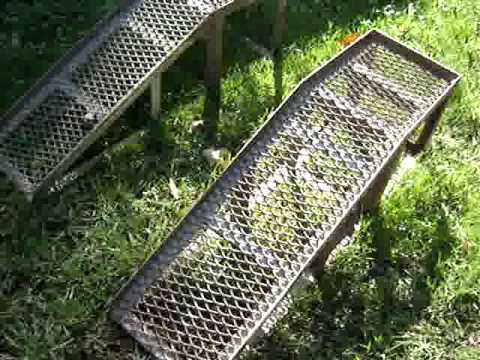Pet Ramp For Car >> Car / Truck Repair Welded Steel Ramps Homemade - YouTube