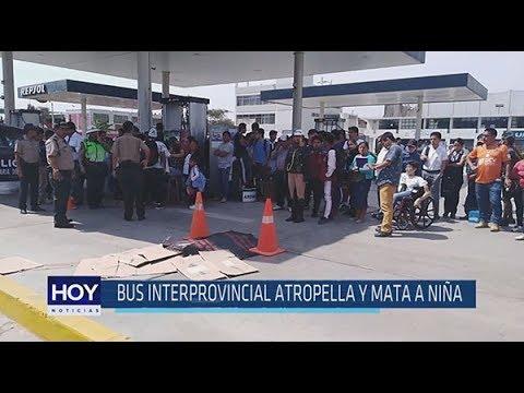 Chiclayo: Bus interprovincial atropella y mata a niña