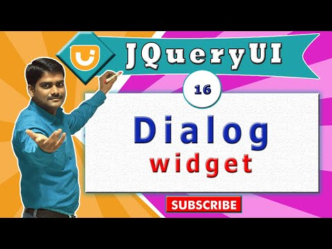 jquery ui video tutorial 16 - Creating Dialog Widget