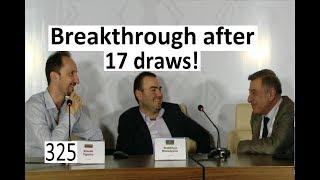 Breakthrough in Shamkir after 17 draws!