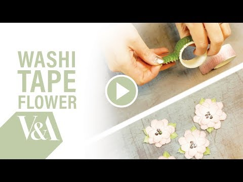 Washi Tape Flower Tutorial | V&A Papercraft Collection