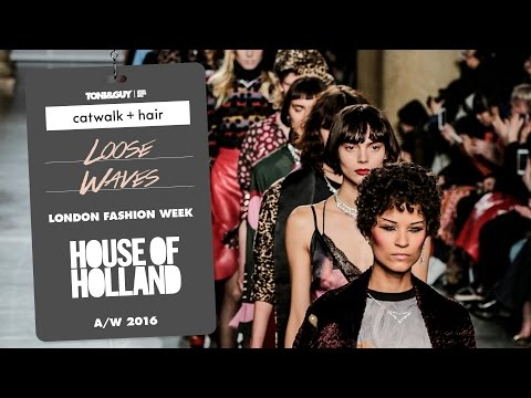 Catwalk hair: loose waves at House of Holland for London Fashion Week AW16