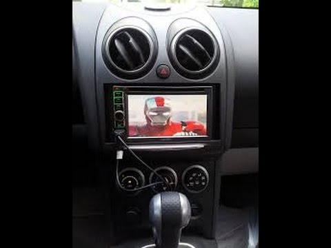 How To Remove A Radio And Install A DVD Nav & Run A Back Up Camera Nissan Dualis Wiring Harness on