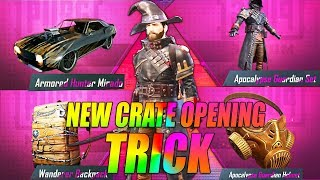 NEW CRATE OPENING TRICK TO GET SURE LEGENDARY ITEM IN PUBG MOBILE | PREMIUM CRATE OPENING