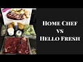 Home Chef vs Hello Fresh -- Trying Meal Delivery Services!