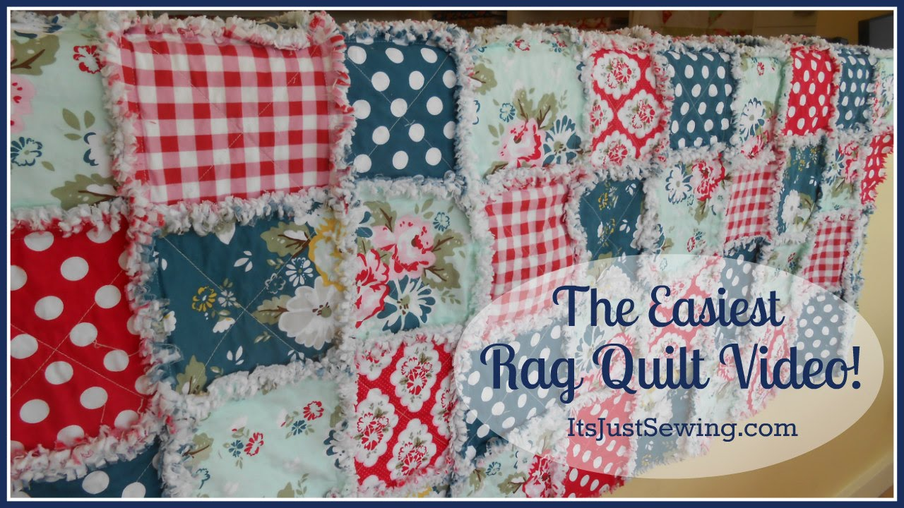 How to Make a Rag Quilt - YouTube : rag quilt how to - Adamdwight.com