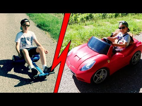 LITTLE FERRARI VS HOVERKART PRANK !