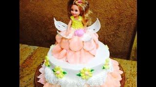 Barbie Doll Cake- Mini Fairy- Cake Decorating- Buttercream