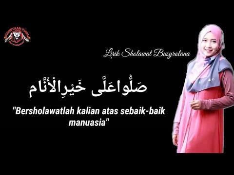 lirik sholawat busyrolana cover by Ai Khodijah El-mighwar