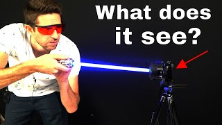 Shining a 5W Burning Blue Laser Directly Into a Recording Camera—What Does It Look Like?