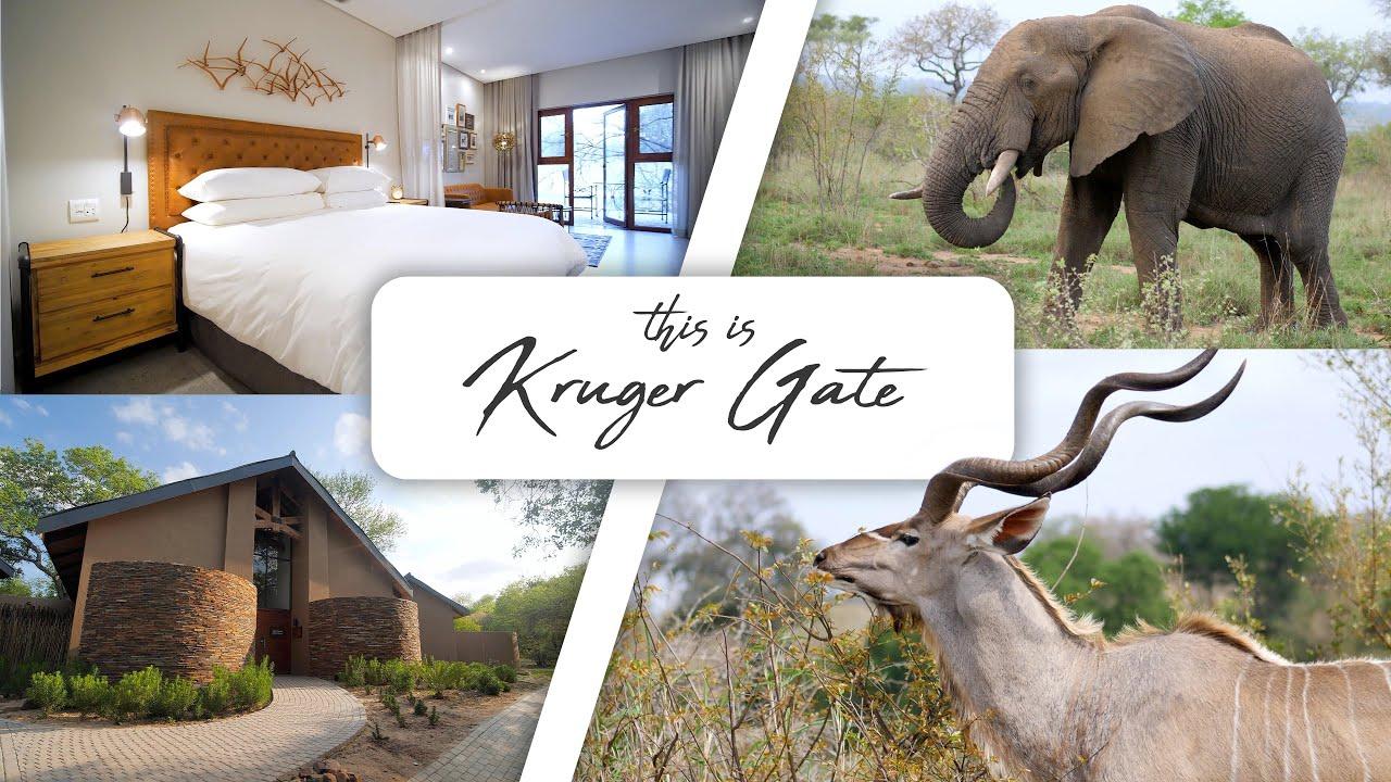 Kruger National Park...this is the Kruger Gate!