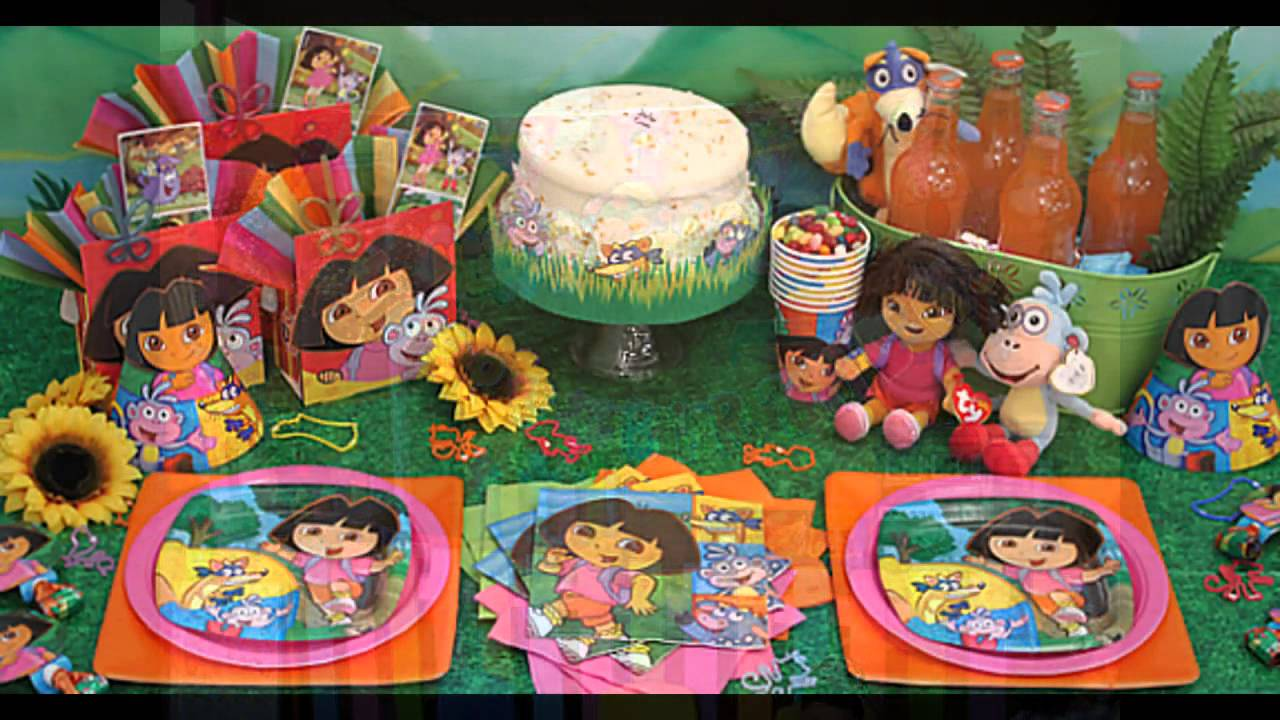 dora birthday party decorations at home ideas YouTube