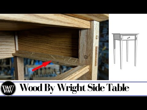 Side Table Part 6 | Making Wooden Drawer Slides