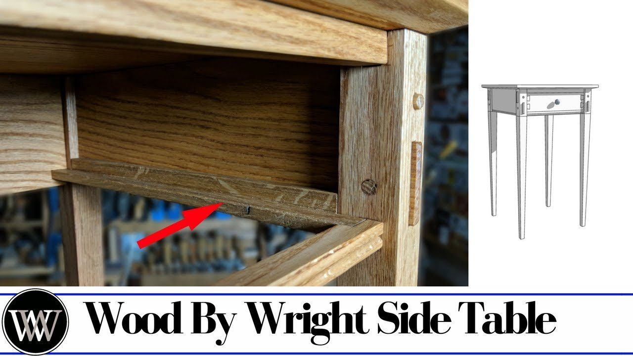 Side Table Part 6 Making Wooden Drawer Slides