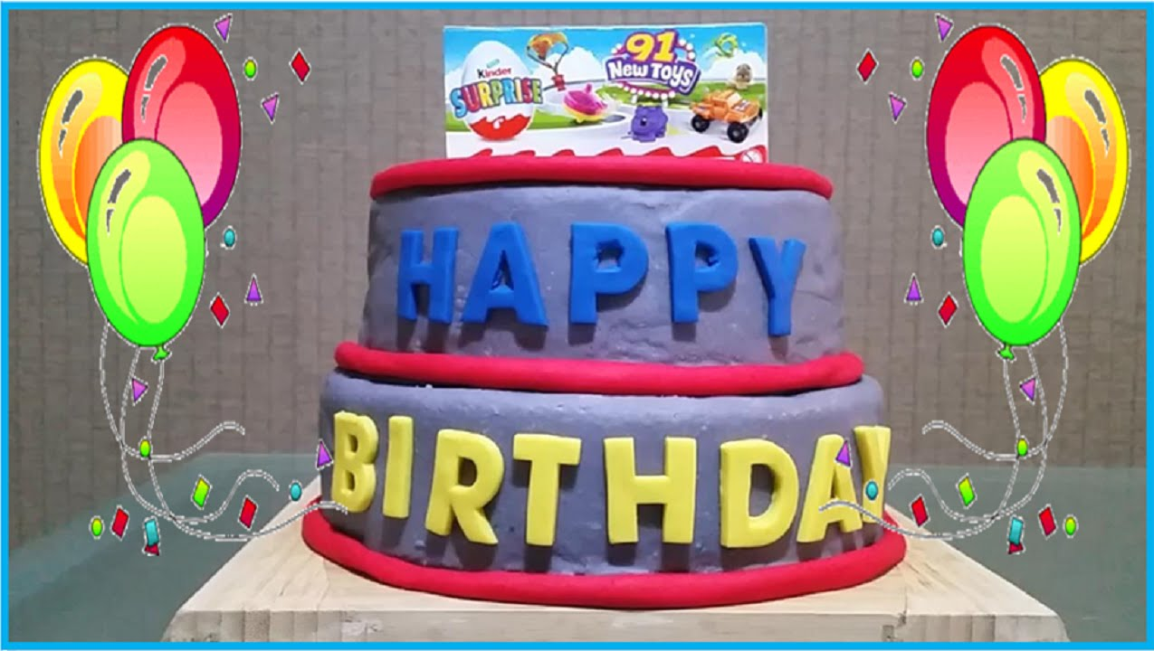 Huge BIRTHDAY Play Doh Cake Surprise Toys Disney Shopkin Hello Kitty