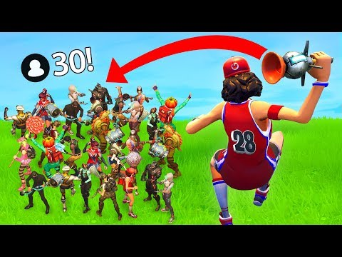 1 STICKY NADE VS 30 PLAYERS! (Fortnite FAILS & WINS #11)