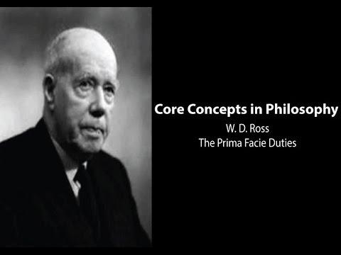 W.D. Ross, the Prima Facie Duties - Philosophy Core Concepts